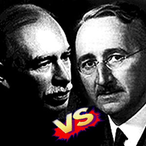 the contrasting views of john maynard keynes and fredrich august hayek on the economic role of the g Friedrich august hayek  john maynard keynes praised the book highly on the book's cover, keynes is quoted as saying: in my opinion it is a grand book.
